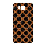 CIRCLES2 BLACK MARBLE & RUSTED METAL Samsung Galaxy Alpha Hardshell Back Case Front