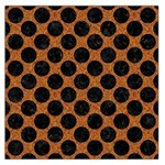 CIRCLES2 BLACK MARBLE & RUSTED METAL Large Satin Scarf (Square) Front