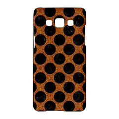 Circles2 Black Marble & Rusted Metal Samsung Galaxy A5 Hardshell Case