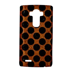 Circles2 Black Marble & Rusted Metal Lg G4 Hardshell Case