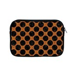 CIRCLES2 BLACK MARBLE & RUSTED METAL Apple MacBook Pro 15  Zipper Case Front