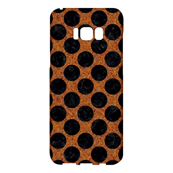 CIRCLES2 BLACK MARBLE & RUSTED METAL Samsung Galaxy S8 Plus Hardshell Case
