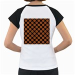 CIRCLES2 BLACK MARBLE & RUSTED METAL (R) Women s Cap Sleeve T Back