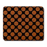 CIRCLES2 BLACK MARBLE & RUSTED METAL (R) Large Mousepads Front