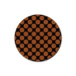 CIRCLES2 BLACK MARBLE & RUSTED METAL (R) Rubber Round Coaster (4 pack)  Front