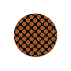 Circles2 Black Marble & Rusted Metal (r) Magnet 3  (round)