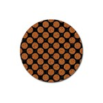 CIRCLES2 BLACK MARBLE & RUSTED METAL (R) Magnet 3  (Round) Front