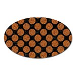 CIRCLES2 BLACK MARBLE & RUSTED METAL (R) Oval Magnet Front