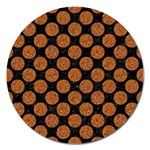 CIRCLES2 BLACK MARBLE & RUSTED METAL (R) Magnet 5  (Round) Front