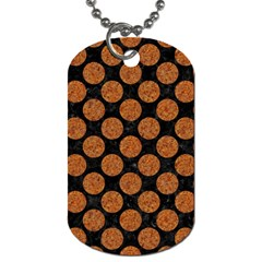 Circles2 Black Marble & Rusted Metal (r) Dog Tag (one Side)
