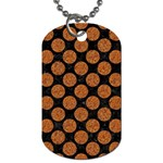 CIRCLES2 BLACK MARBLE & RUSTED METAL (R) Dog Tag (One Side) Front