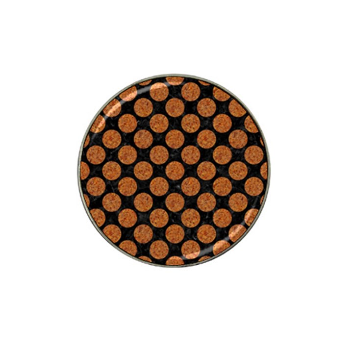 CIRCLES2 BLACK MARBLE & RUSTED METAL (R) Hat Clip Ball Marker (4 pack)