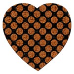 CIRCLES2 BLACK MARBLE & RUSTED METAL (R) Jigsaw Puzzle (Heart) Front