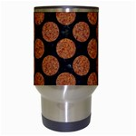 CIRCLES2 BLACK MARBLE & RUSTED METAL (R) Travel Mugs (White) Center