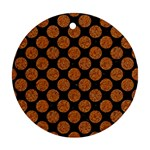 CIRCLES2 BLACK MARBLE & RUSTED METAL (R) Round Ornament (Two Sides) Front