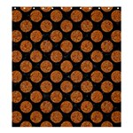 CIRCLES2 BLACK MARBLE & RUSTED METAL (R) Shower Curtain 66  x 72  (Large)  58.75 x64.8 Curtain
