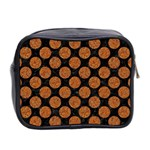 CIRCLES2 BLACK MARBLE & RUSTED METAL (R) Mini Toiletries Bag 2-Side Back
