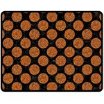 CIRCLES2 BLACK MARBLE & RUSTED METAL (R) Fleece Blanket (Medium)  60 x50 Blanket Front