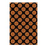CIRCLES2 BLACK MARBLE & RUSTED METAL (R) Shower Curtain 48  x 72  (Small)  42.18 x64.8 Curtain