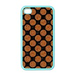CIRCLES2 BLACK MARBLE & RUSTED METAL (R) Apple iPhone 4 Case (Color) Front