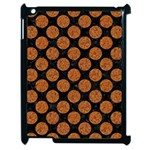 CIRCLES2 BLACK MARBLE & RUSTED METAL (R) Apple iPad 2 Case (Black) Front