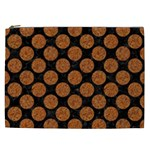 CIRCLES2 BLACK MARBLE & RUSTED METAL (R) Cosmetic Bag (XXL)  Front