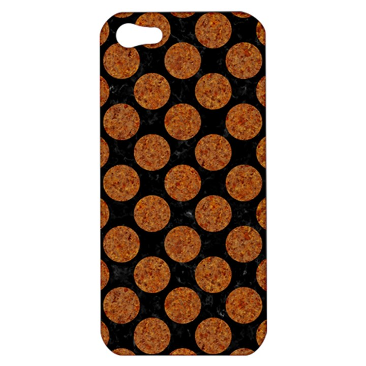 CIRCLES2 BLACK MARBLE & RUSTED METAL (R) Apple iPhone 5 Hardshell Case