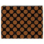 CIRCLES2 BLACK MARBLE & RUSTED METAL (R) Cosmetic Bag (XXXL)  Front
