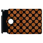 CIRCLES2 BLACK MARBLE & RUSTED METAL (R) Apple iPad 3/4 Flip 360 Case Front