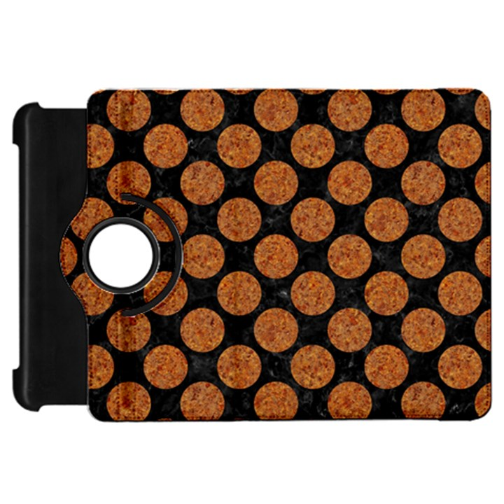 CIRCLES2 BLACK MARBLE & RUSTED METAL (R) Kindle Fire HD 7