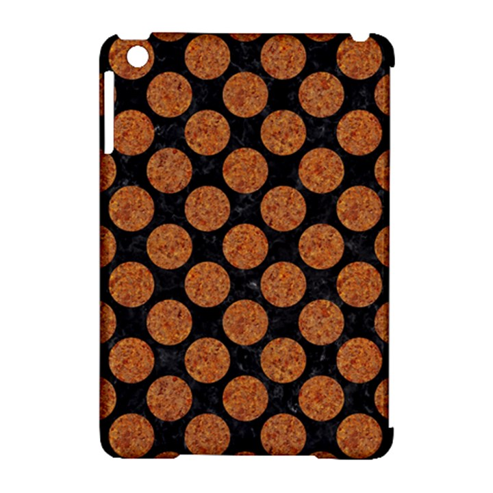 CIRCLES2 BLACK MARBLE & RUSTED METAL (R) Apple iPad Mini Hardshell Case (Compatible with Smart Cover)