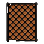 CIRCLES2 BLACK MARBLE & RUSTED METAL (R) Apple iPad 3/4 Case (Black) Front