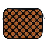 CIRCLES2 BLACK MARBLE & RUSTED METAL (R) Apple iPad 2/3/4 Zipper Cases Front