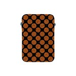 CIRCLES2 BLACK MARBLE & RUSTED METAL (R) Apple iPad Mini Protective Soft Cases Front