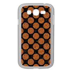 Circles2 Black Marble & Rusted Metal (r) Samsung Galaxy Grand Duos I9082 Case (white)