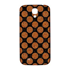 Circles2 Black Marble & Rusted Metal (r) Samsung Galaxy S4 I9500/i9505  Hardshell Back Case
