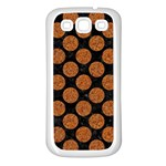 CIRCLES2 BLACK MARBLE & RUSTED METAL (R) Samsung Galaxy S3 Back Case (White) Front