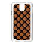 CIRCLES2 BLACK MARBLE & RUSTED METAL (R) Samsung Galaxy Note 3 N9005 Case (White) Front