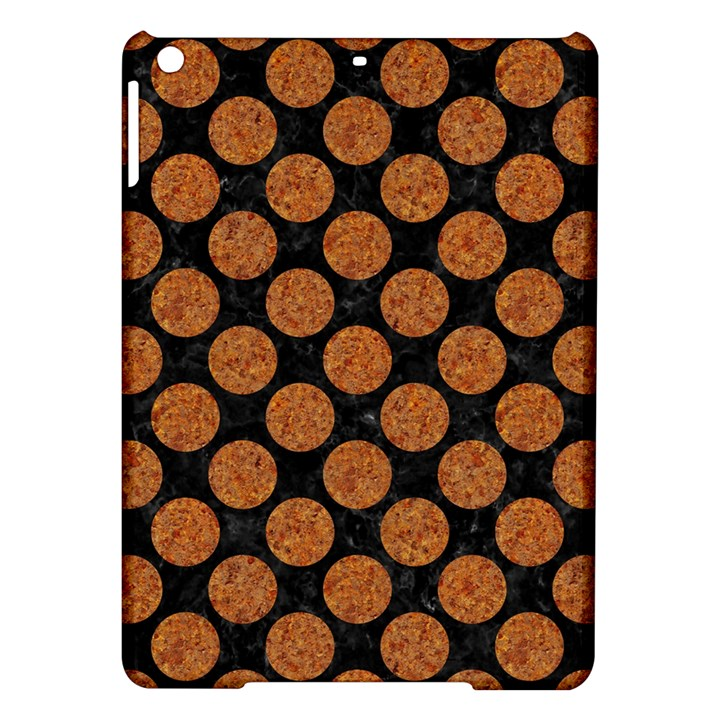 CIRCLES2 BLACK MARBLE & RUSTED METAL (R) iPad Air Hardshell Cases