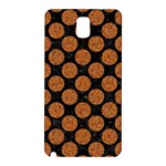 CIRCLES2 BLACK MARBLE & RUSTED METAL (R) Samsung Galaxy Note 3 N9005 Hardshell Back Case Front