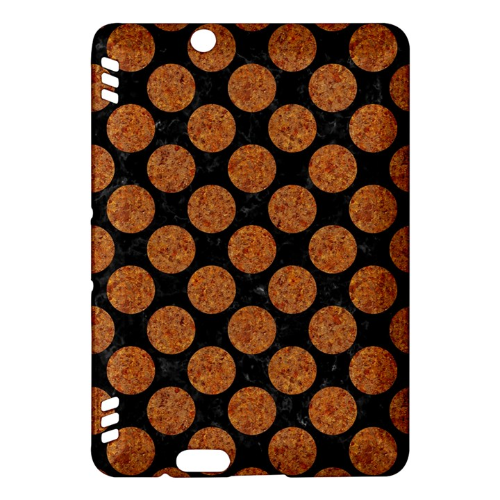 CIRCLES2 BLACK MARBLE & RUSTED METAL (R) Kindle Fire HDX Hardshell Case