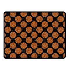 Circles2 Black Marble & Rusted Metal (r) Double Sided Fleece Blanket (small)