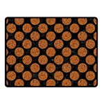 CIRCLES2 BLACK MARBLE & RUSTED METAL (R) Double Sided Fleece Blanket (Small)  45 x34 Blanket Front