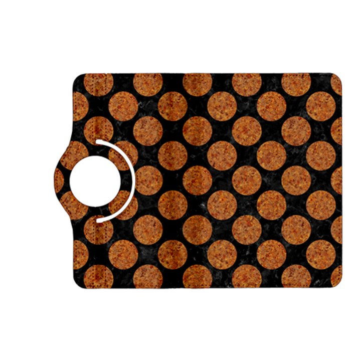 CIRCLES2 BLACK MARBLE & RUSTED METAL (R) Kindle Fire HD (2013) Flip 360 Case