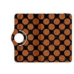 Circles2 Black Marble & Rusted Metal (r) Kindle Fire Hdx 8 9  Flip 360 Case