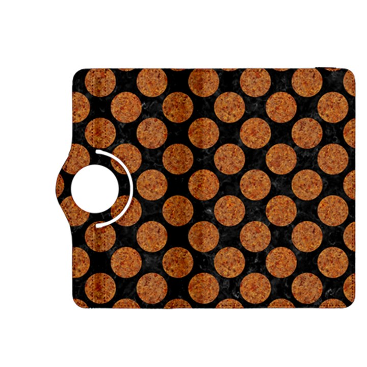 CIRCLES2 BLACK MARBLE & RUSTED METAL (R) Kindle Fire HDX 8.9  Flip 360 Case