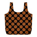 CIRCLES2 BLACK MARBLE & RUSTED METAL (R) Full Print Recycle Bags (L)  Back
