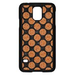 CIRCLES2 BLACK MARBLE & RUSTED METAL (R) Samsung Galaxy S5 Case (Black) Front