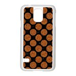 CIRCLES2 BLACK MARBLE & RUSTED METAL (R) Samsung Galaxy S5 Case (White) Front