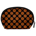 CIRCLES2 BLACK MARBLE & RUSTED METAL (R) Accessory Pouches (Large)  Back